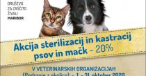 Akcija sterilizacij in kastracij lastniških psov in mačk