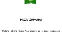 POZIV ŽUPANA