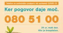 Telefonska številka za psihološko podporo v času epidemije